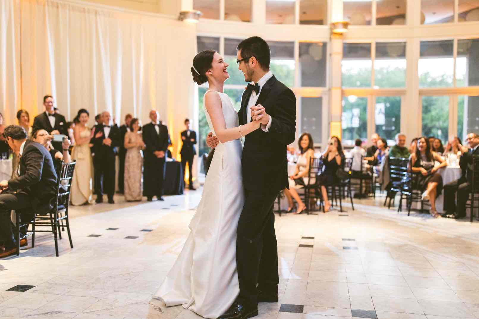 Artsy Black and White Wedding A Chair Affair First Dance