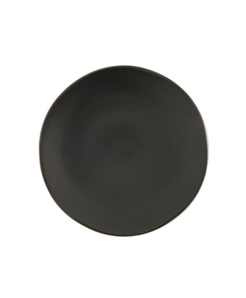Black China Dinner Plate