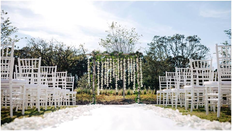 Classic White Wedding A Chair Affair Ceremony White Chiavari Chairs