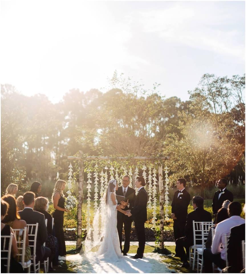 Classic White Wedding A Chair Affair Ceremony