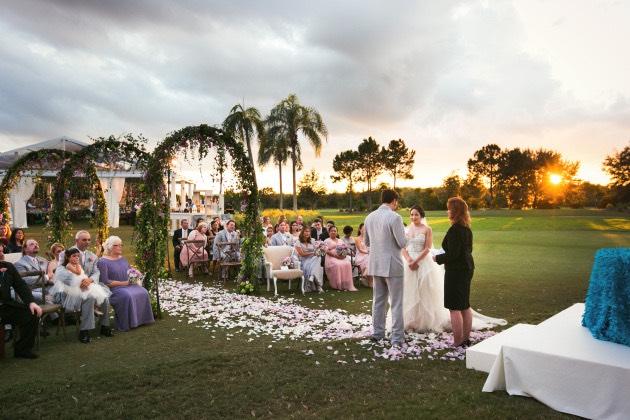 Garden Style Wedding A Chair Affair Ceremony