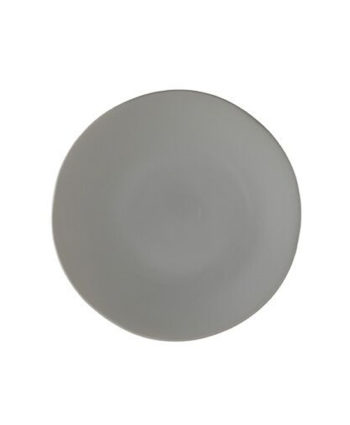 Gray China Dinner Plate