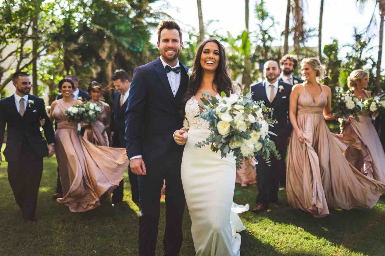 Ivory and Gold Ritz Carlton Sarasota wedding a chair affair Bridal Party