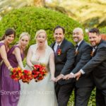 Red and Gold Orlando Wedding A Chair Affair Bridal Party