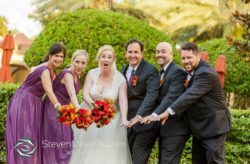 Red and Gold Renaissance Orlando Wedding