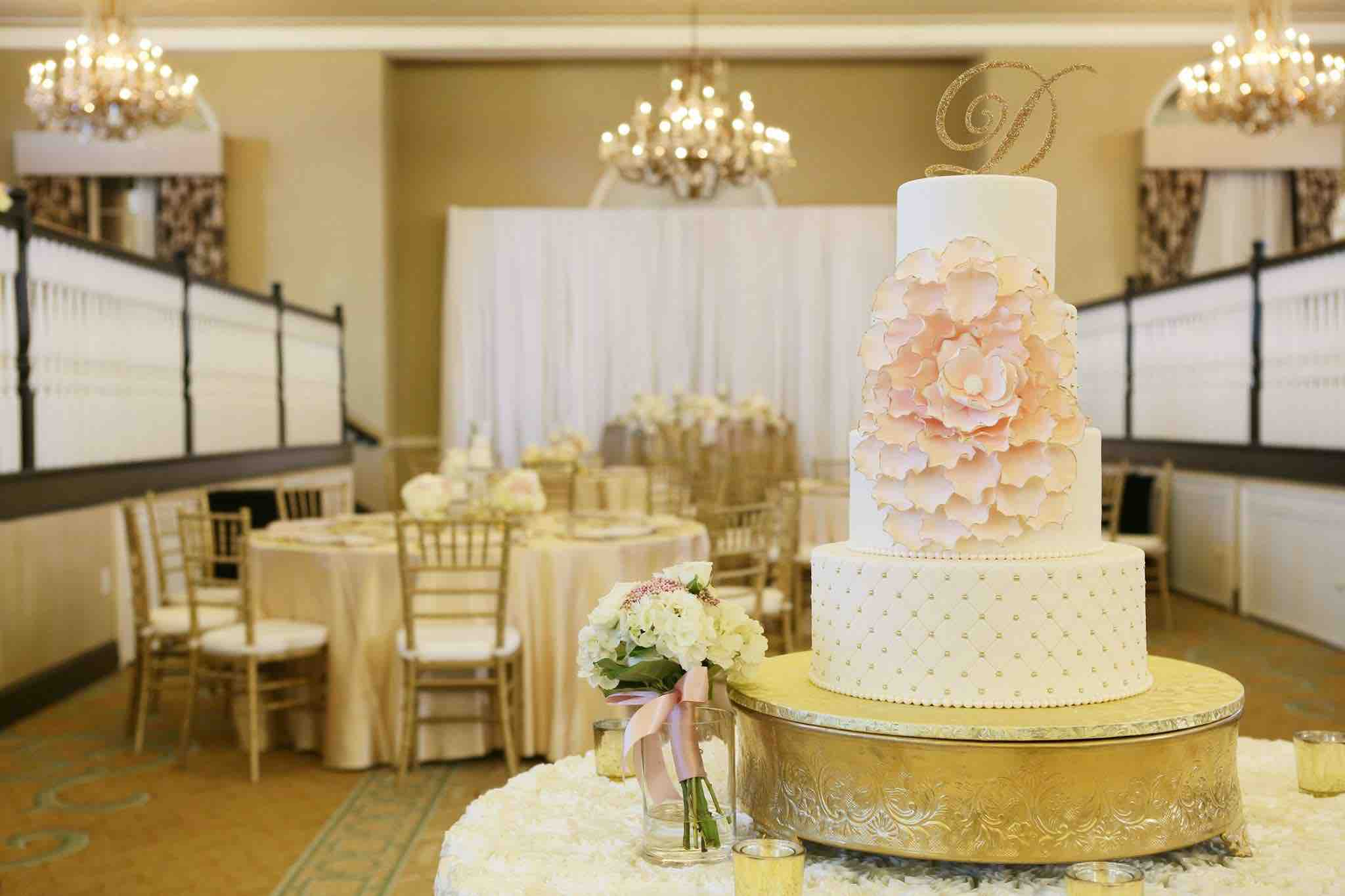 Sophisticated Blush and Gold Don CeSar Wedding A Chair Affair Gold Chiavari Chairs