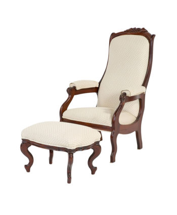 the vivian chair and foot stool - A Chair Affair Rentals