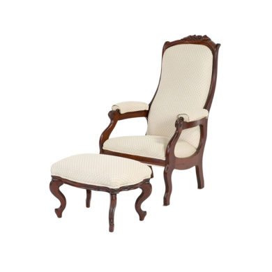 The Vivian Chair and Foot Stool
