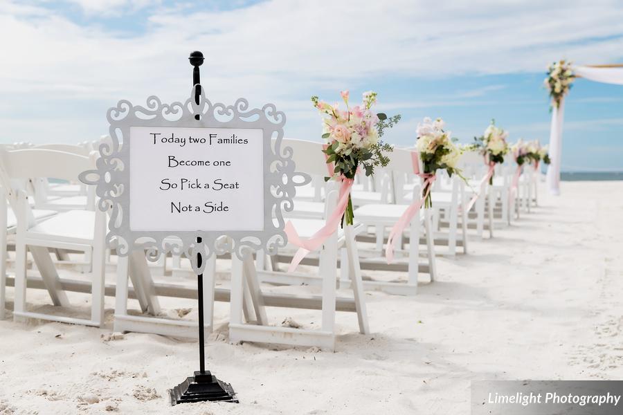 Beach Wedding A Chair Affair White Folding Chairs
