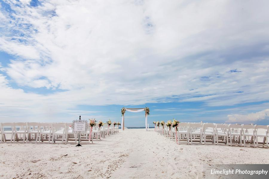 Hilton Clearwater Beach Wedding A Chair Affair Ceremony Setup White Folding Chairs
