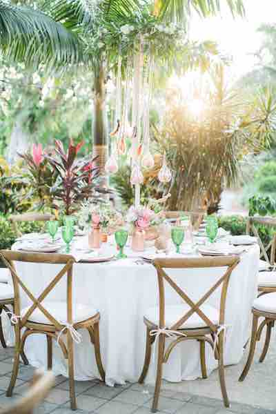 Luxurious Destination Wedding A Chair Affair Reception French country chairs