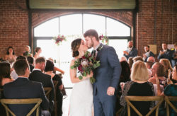 Intimate Music-Inspired Green Bench Brewing Co. Wedding