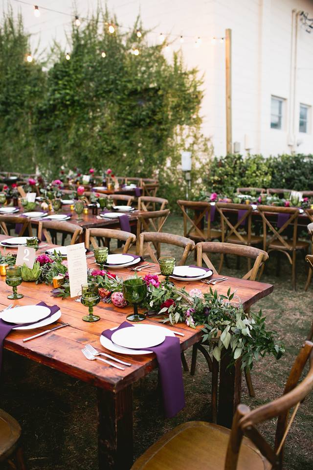 green bench brewing co wedding a chair affair mahogany farm tables 1