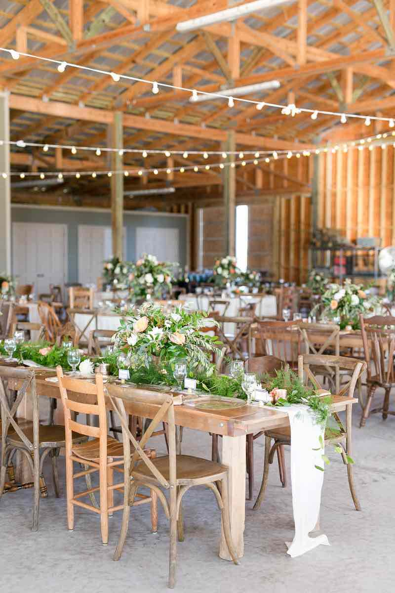 vintage-inspired farm wedding A Chair Affair French country chairs reception
