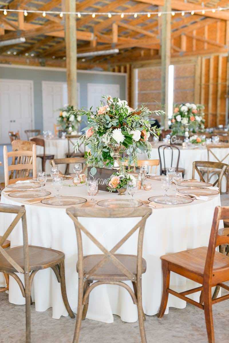 vintage-inspired farm wedding A Chair Affair French country chairs