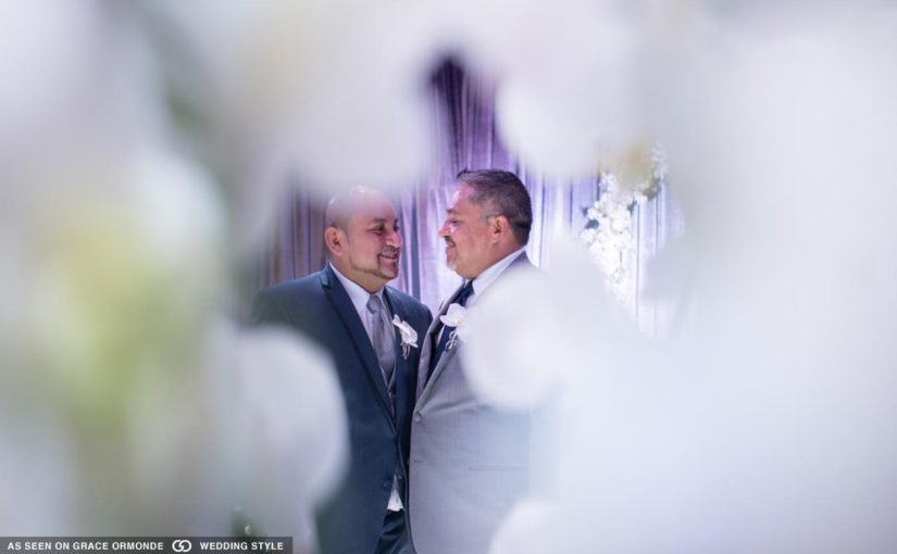 LGBT White and Navy Wedding