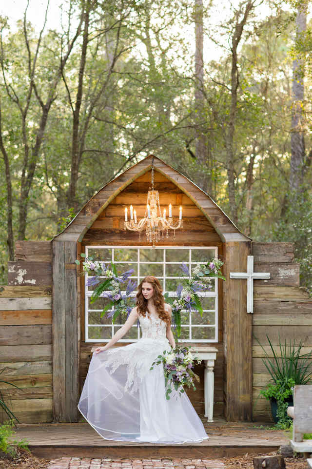 Bridle Oaks Barn Enchanting Forest Wedding Shoot - A Chair