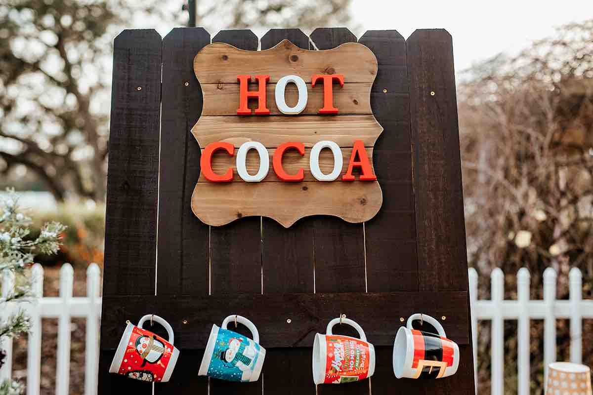 Christmas Wedding A Chair Affair Hot Cocoa Station