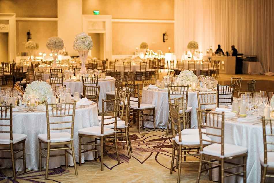 Jewish wedding A Chair Affair gold Chiavari chair reception