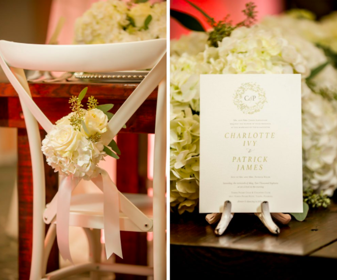 romantic southern-styled shoot A Chair Affair white French country chair