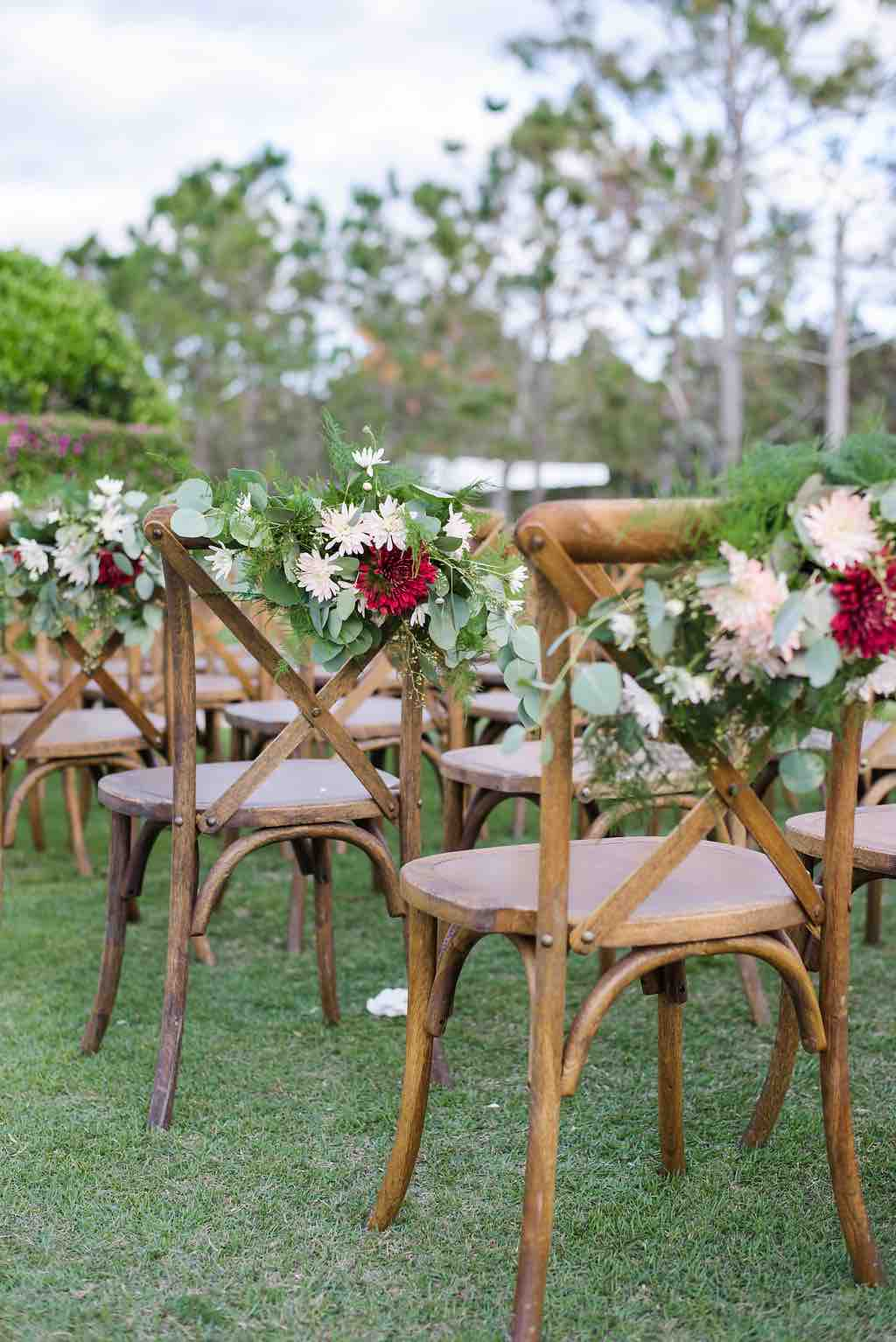 navy and burgundy wedding A Chair Affair French country chairs