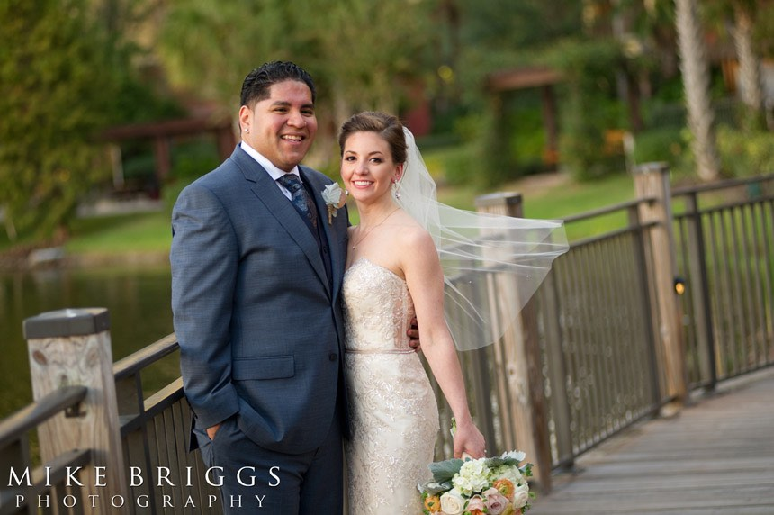 romantic Florida wedding A Chair Affair bride and groom newlyweds