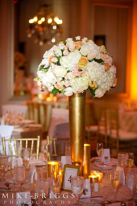 romantic Florida wedding A Chair Affair floral and gold Chiavari chairs