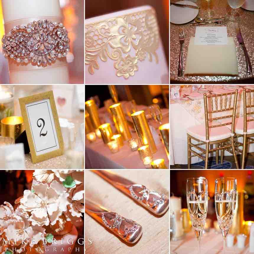 romantic Florida wedding A Chair Affair gold Chiavari chairs