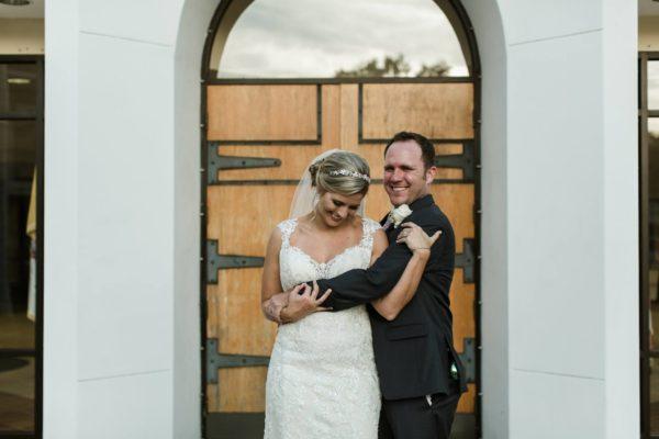 Front of church, A Chair Affair, Finny Hill Photography, Mahaffey Theater Wedding