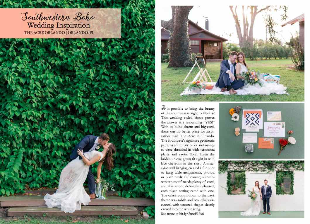A Chair Affair Southern Boho Inspired Shoot Feature Orange Blossom Bride