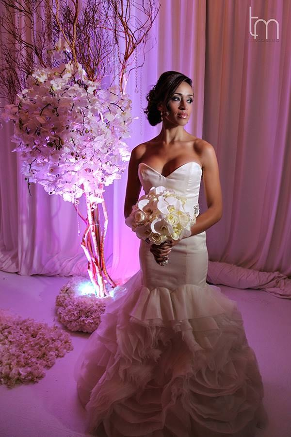 Floral Decor Bride with Bouquet Greenery Productions A Chair Affair