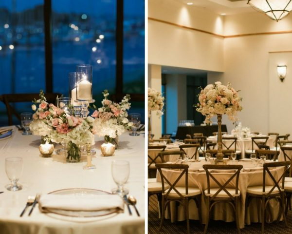 Gold Rim Chargers, French Country Chairs, A Chair Affair, Finny Hill Photography, Mahaffey Theater Wedding