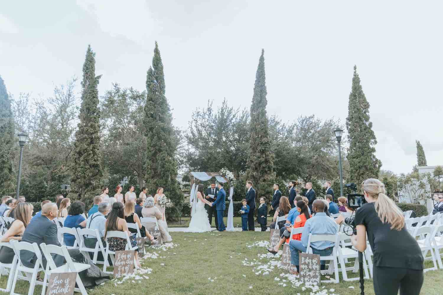romantic ranch wedding a chair affair white folding chairs ceremony