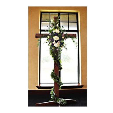 Mahogany Wooden Cross
