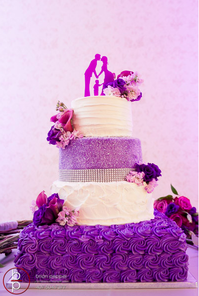 Lake Mary Events Center Emile and Brandon A Chair Affair purple cake