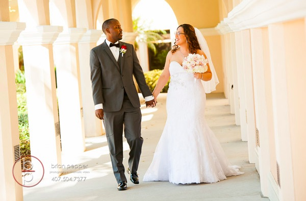 Rosen Shingle Creek Resort Wedding with Ivory and Berry Mary and Brandon A Chair Affair Couple
