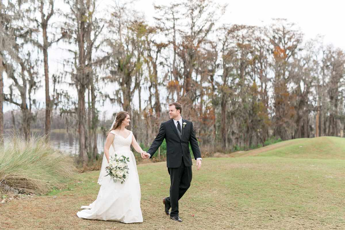 Victoria and Chris Isleworth Country Club Country Chic Wedding Reception A Chair Affair Couple