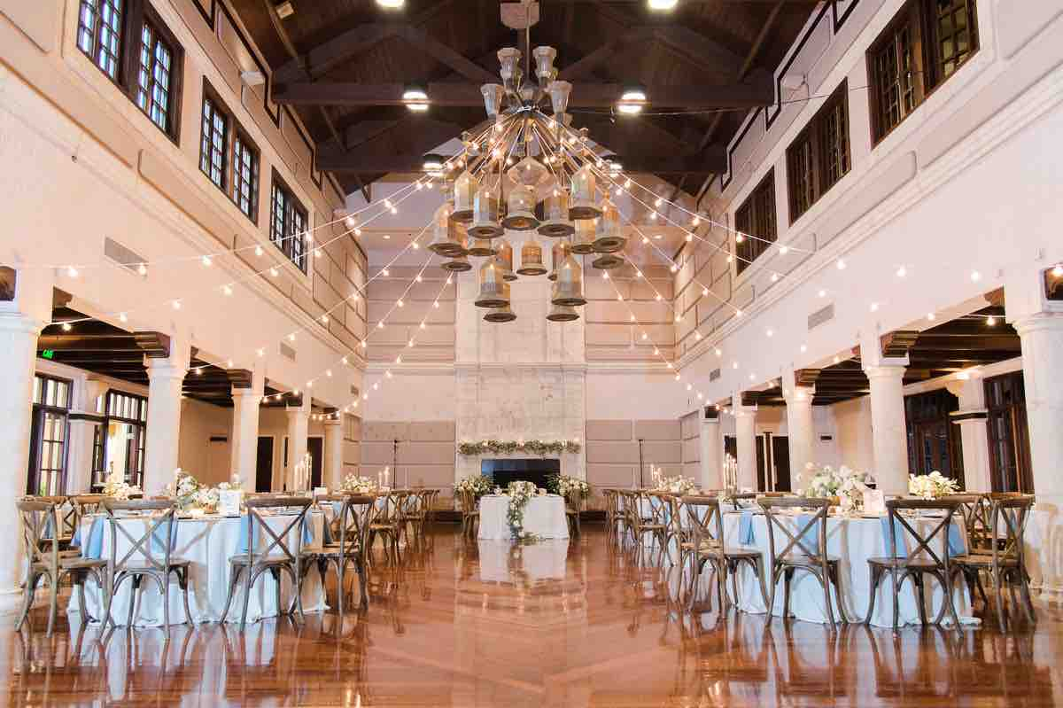 Victoria and Chris Isleworth Country Club Country Chic Wedding Reception A Chair Affair French Country Chairs Full Reception View