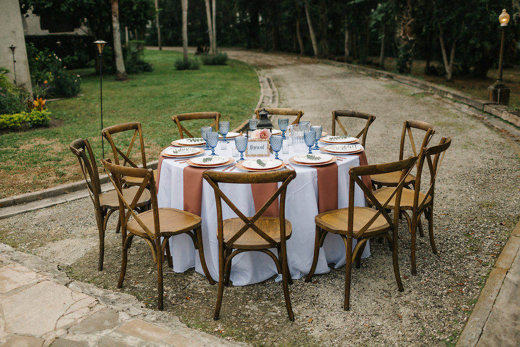 romantic Sydonie Mansion wedding Shelbie and Justin Reception French Country Chairs Round Table A Chair Affair