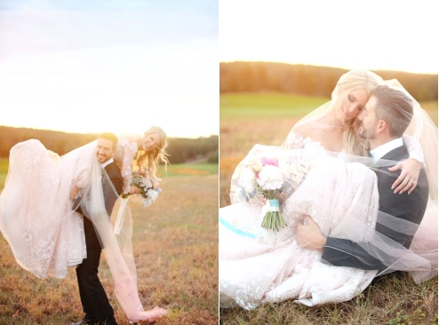Fairytale Florida Wedding A Chair Affair Bella Collina couple at golden hour cute Lindsay and Jarrus