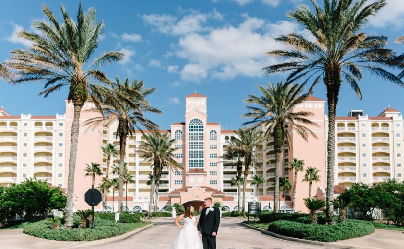 Hammock Beach Resort-Bride and Groom In Front-A Chair Affair