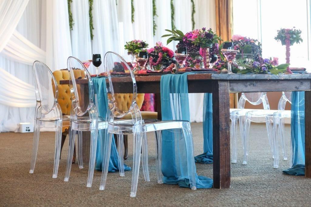 Isla del Sol Wedding Shoot-A Chair Affair-farm table-ghost chairs-Queen Ann chairs (2)