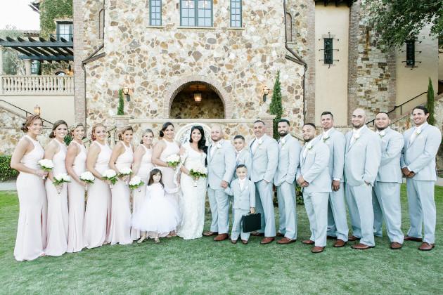Bella Collina Beautiful Blush and Grey Wedding A Chair Affair Bridal Party (2)