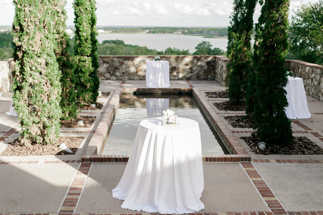 Bella Collina Beautiful Blush and Grey Wedding A Chair Affair White Cocktail Linens