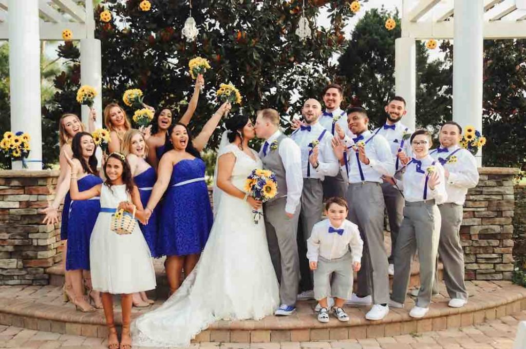 Royal Blue Wedding In Central Florida Sunflower Theme A Chair Affair It Takes 2 Photography