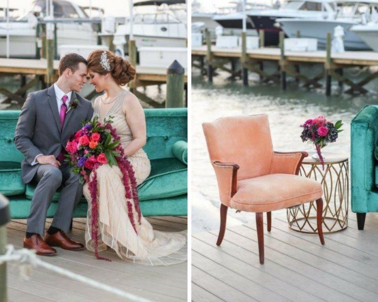 Isla del Sol Wedding Shoot-A Chair Affair-Emerald Brighton Sofa-Sara armchair-Ariel End Table