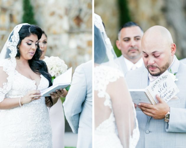 Bella Collina Beautiful Blush and Grey Wedding A Chair Affair Vows