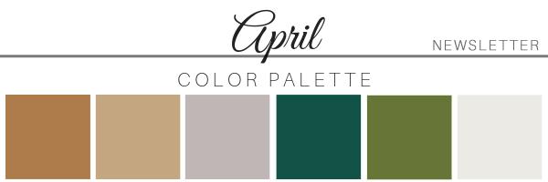 April 2019 Color Palette - A Chair Affair