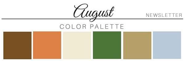 August Color Palette - A Chair Affair
