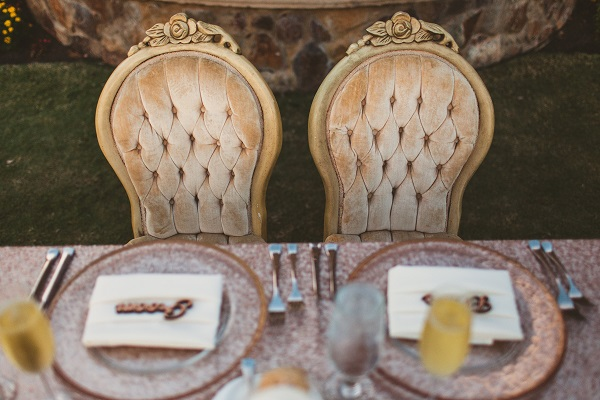 Bella Collina Fall Wedding-Gold Rim Chargers- The Victoria Chair-A Chair Affair
